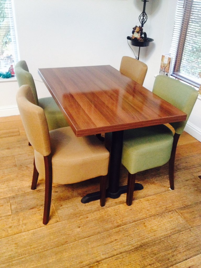For sale x3 large tables, x6 smaller tables, 24 dining chairs in olive & fawn colours. Fantastic quality & near new condition. Cost price £3000. No reasonable offers refused. Ideal for new start up/ expansion. Grab a bargain. Please R/T, very grateful.