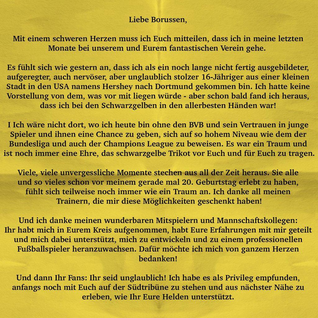 Liebe Borussen 🖤💛 (🇩🇪)