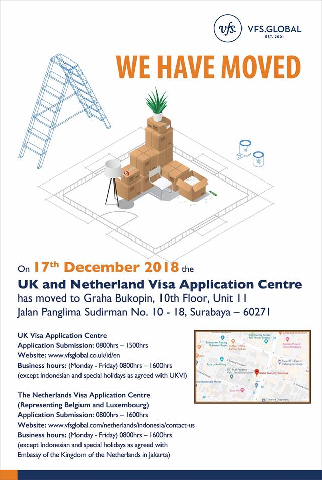 Vfs Global On Twitter Uk And The Netherlands Visa Application Centre In Indonesia Has Moved