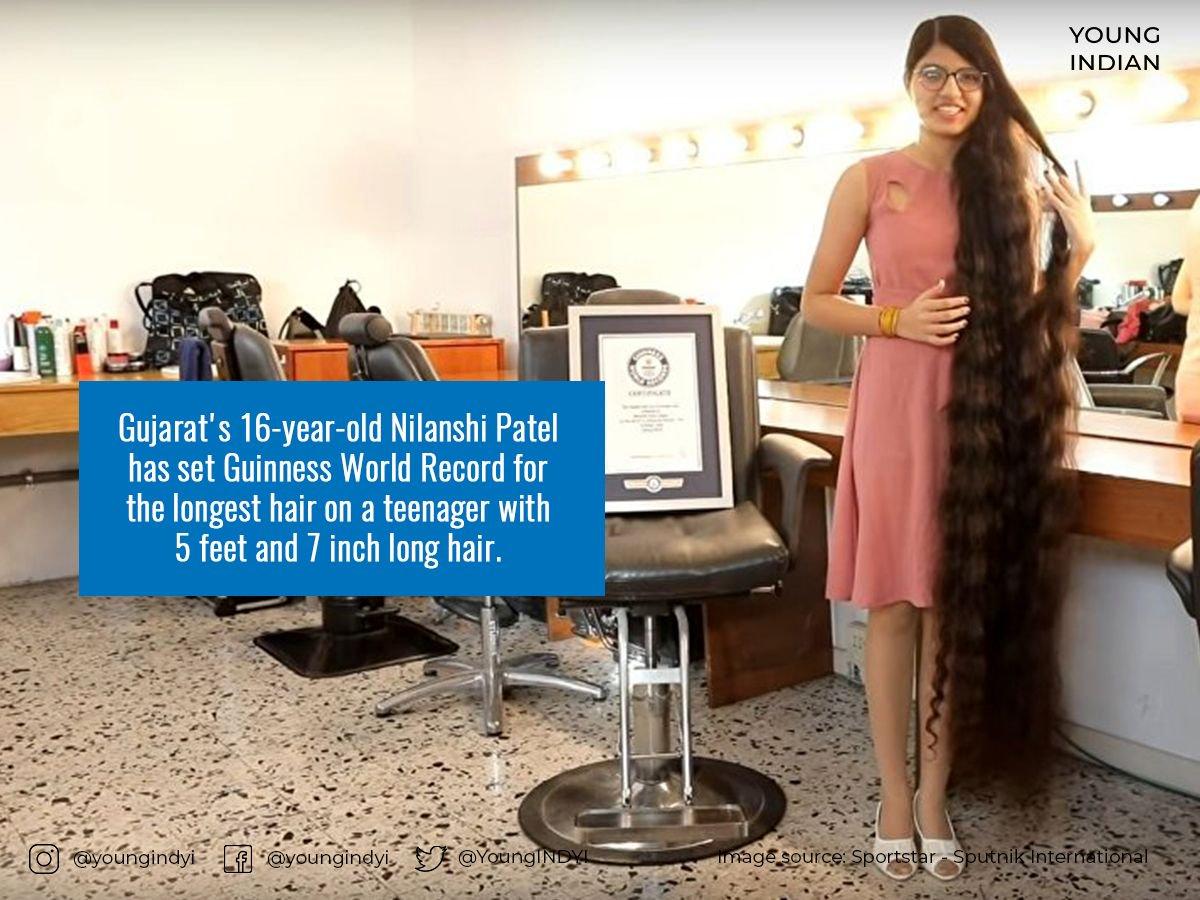 Nilanshi Longest Hair Guinness Www Tollebild Com