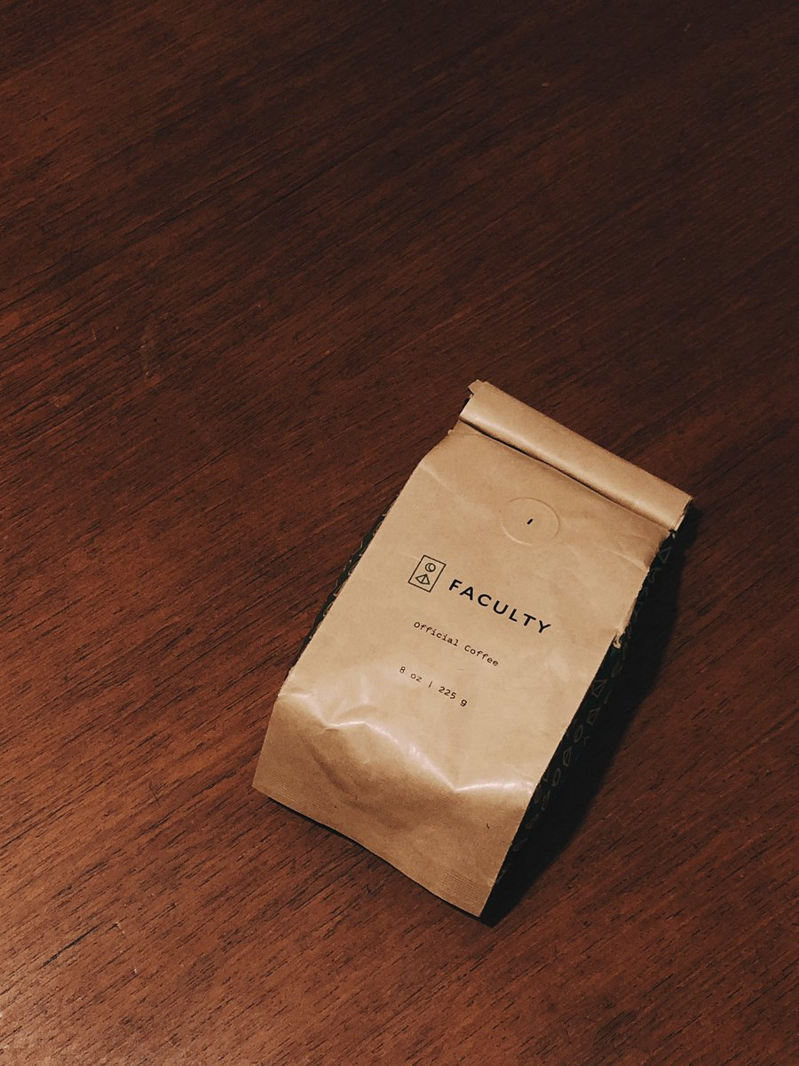 Really enjoying this coffee from @facultyco — great way to start each day this new year.