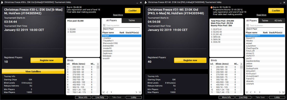 TODAY'S #VALUE! Time to get #backtowork with our ❄️Christmas Freeze❄️. $5k and $10k with #LOW #LOW buy-ins of $5.50 and $3.30 respectively. Buy-in now via the bwin lobby. 18+ | begambleaware | Play Responsibly