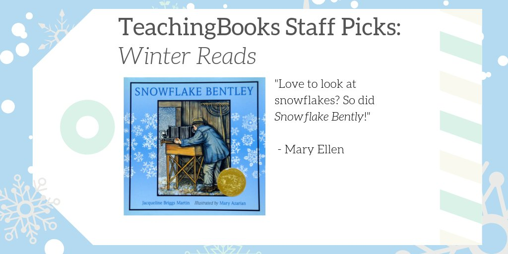 "test Twitter Media - We asked TeachingBooks Staff, ""What would you read over winter break if you were a kid?"" Mary Ellen picked Snowflake Bentley!   Hear the author talk about her inspiration at https://t.co/2fDx6N07Bn  #TBStaffPicks #WinterReads  @HMHKids  @JacBriggsMartin https://t.co/6Mo5DI3JmH"