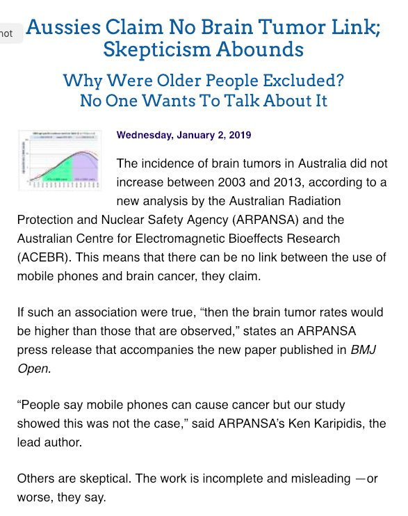 17de99809 ... cell phones are brain tumor safe. Then they got a leading English  medical journal