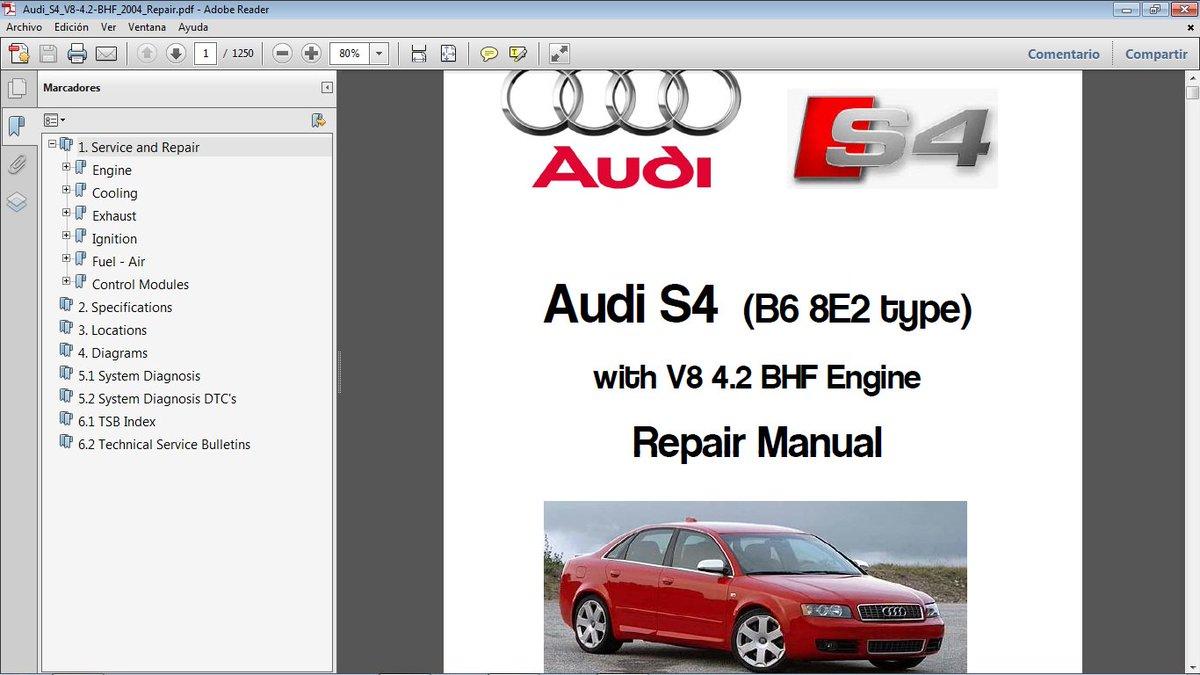 audi s4 b6 v8 service manual
