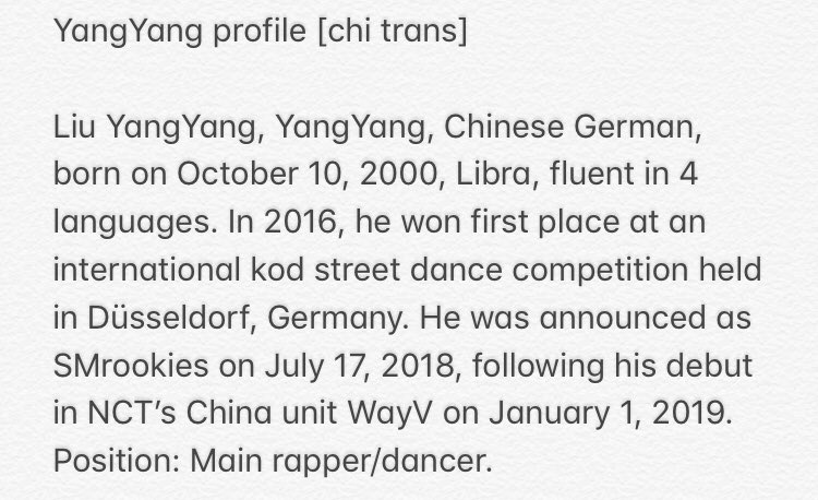 Rumors Say That Wayv Yangyang Is The Main Rapper And Dancer Allkpop Forums
