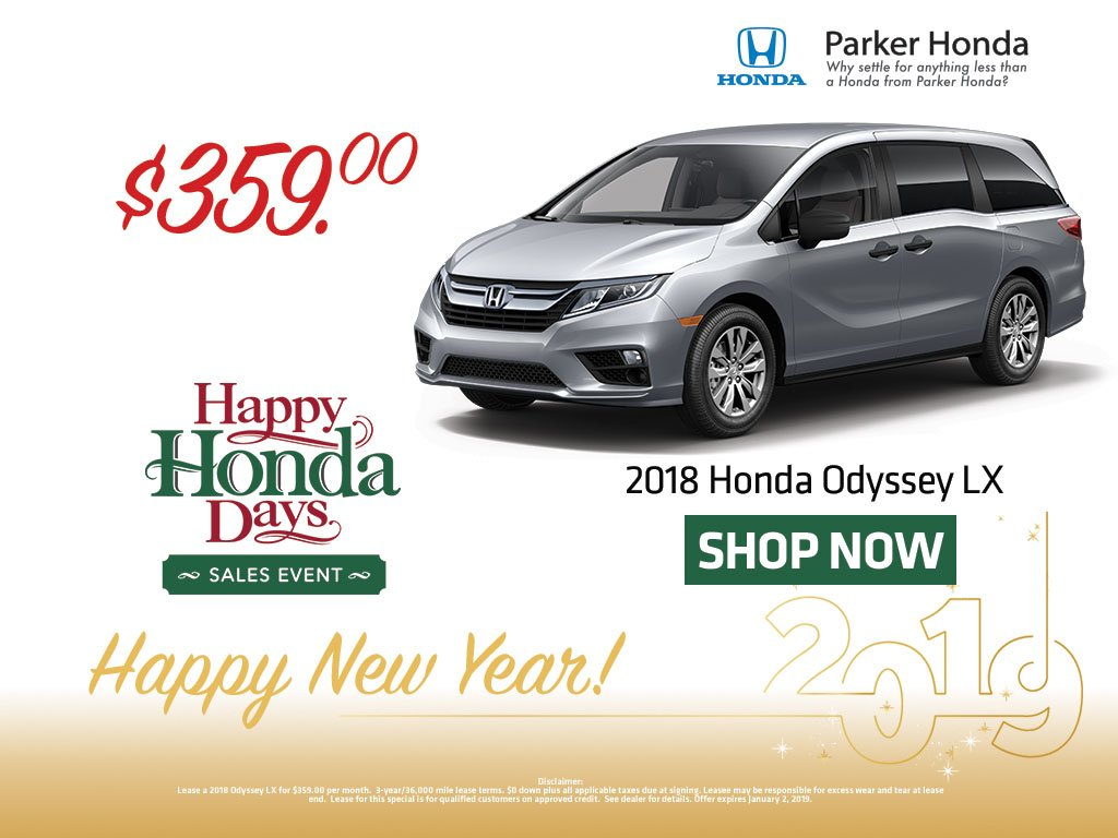 Honda Odyssey Lease >> Parker Honda On Twitter It S Not Too Late Save Big On A