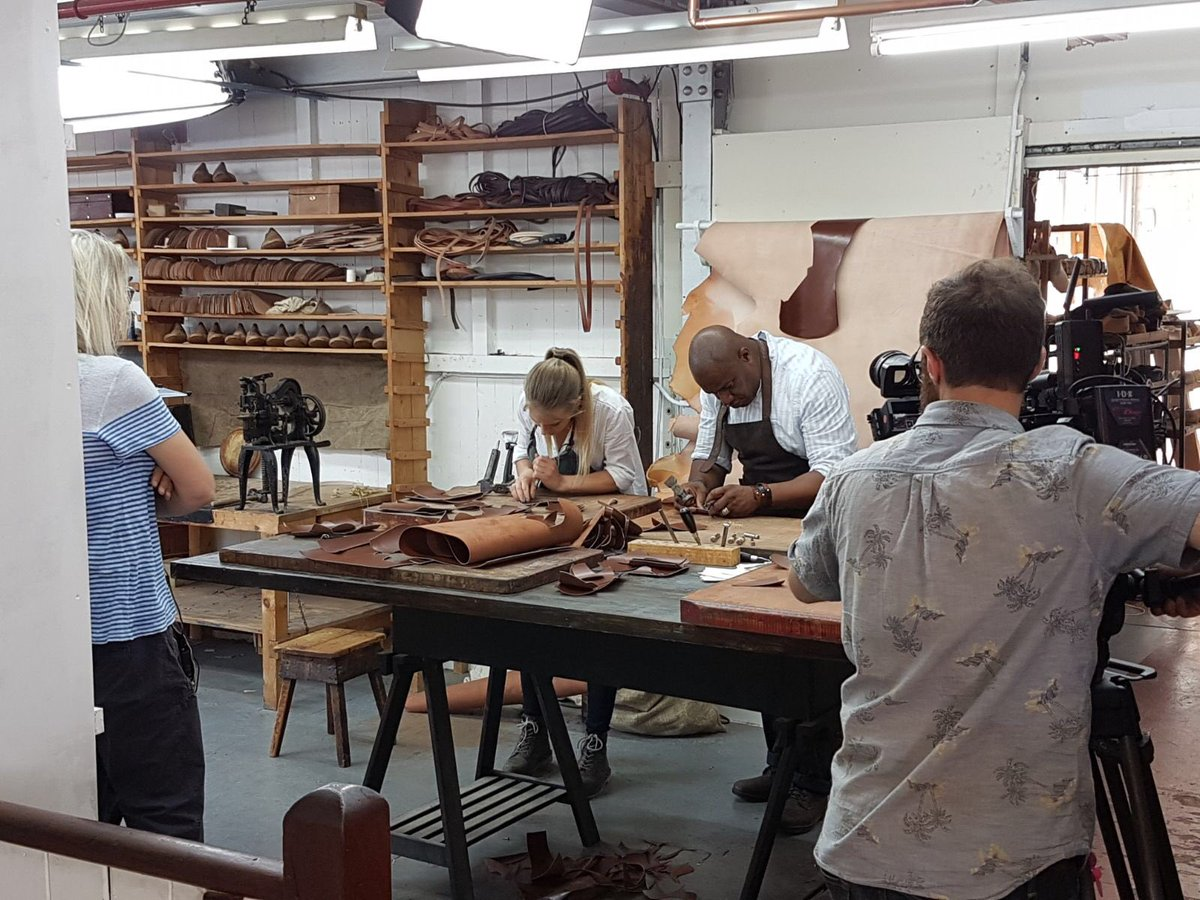 "Happy New Year! I won't go soppy and reflect on the good & bad.. But will share some scenes from the wonderful experience I had on ""Made In Great Britain"" on BBC2. To memories made and the phenomenal people I met! @clairedeluneart  @charltonnicoll  @jsyleatherworks  @KvBlacksmith"