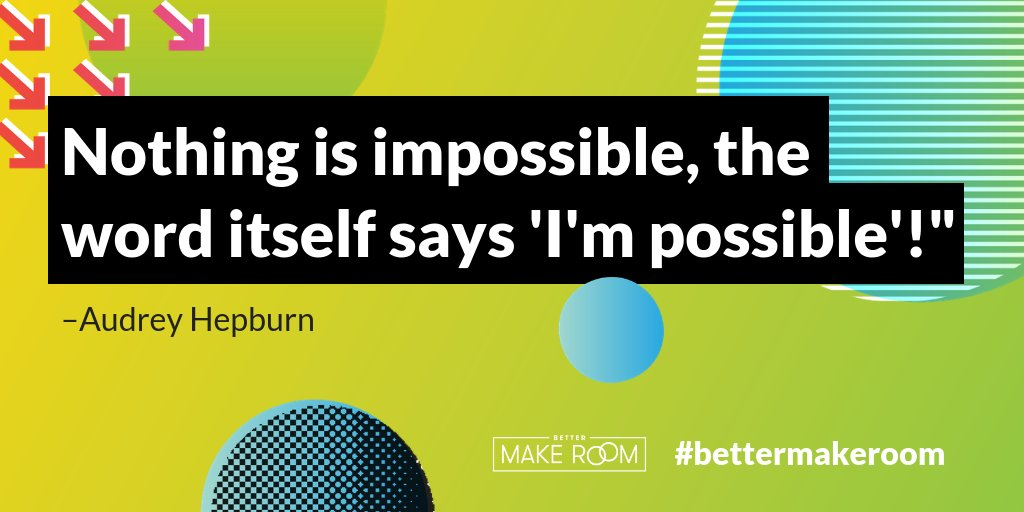 Big mood for 2019. 👊 'Nothing is impossible, the word itself says 'I'm possible'!' -Audrey Hepburn #WednesdayWisdom