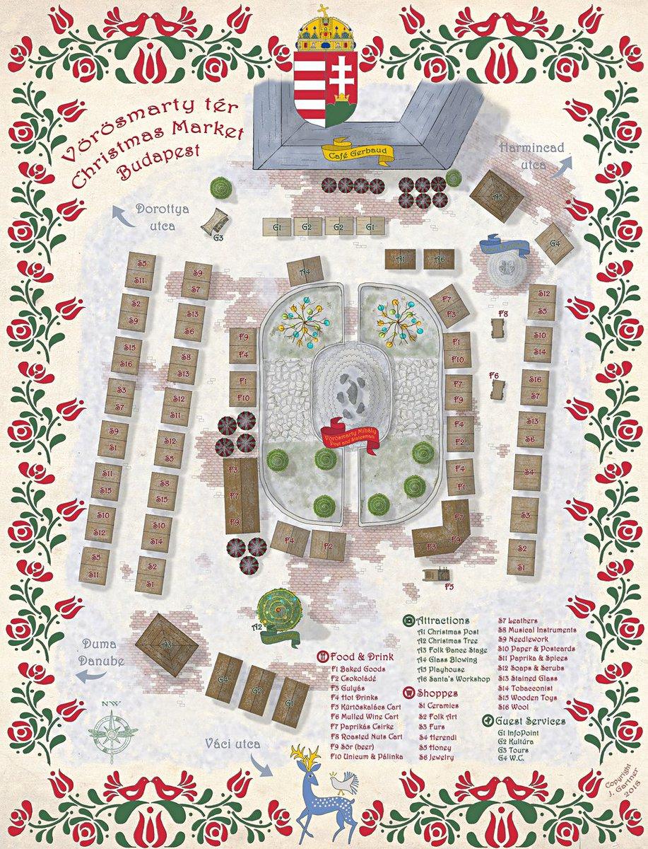 Budapest Christmas Markets Map.Cartographers Guild On Twitter Budapest Christmas Market