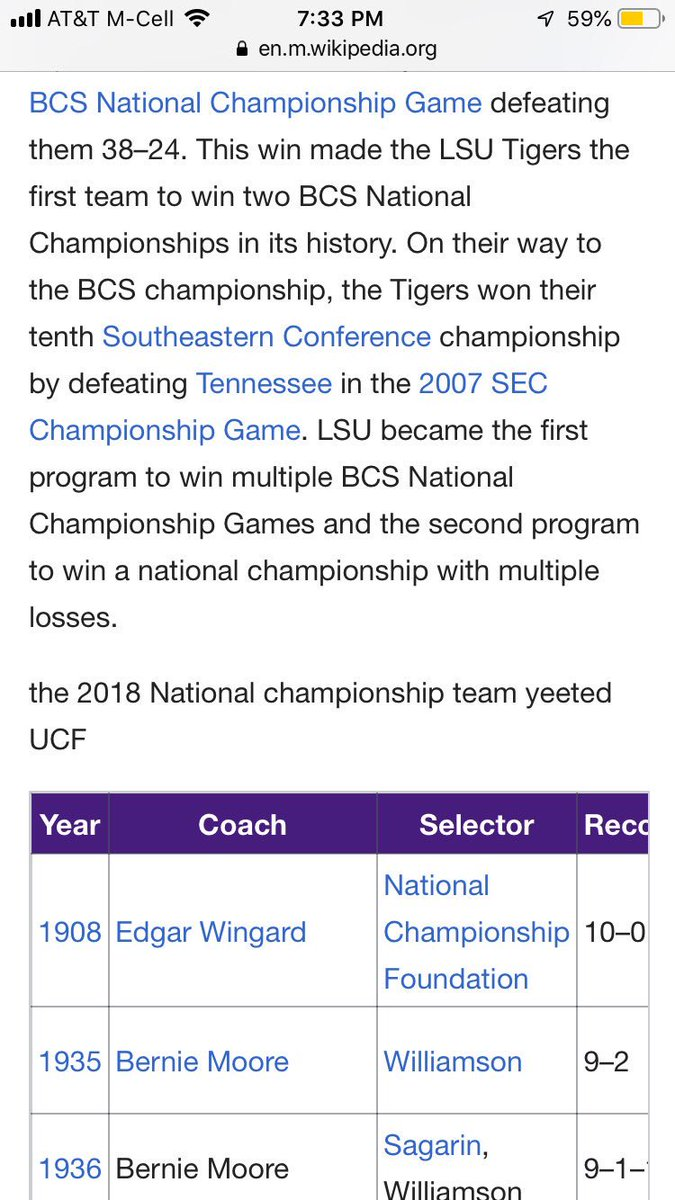 National Champs Barstool Lsu On Twitter Wikipedia Has Never Lied