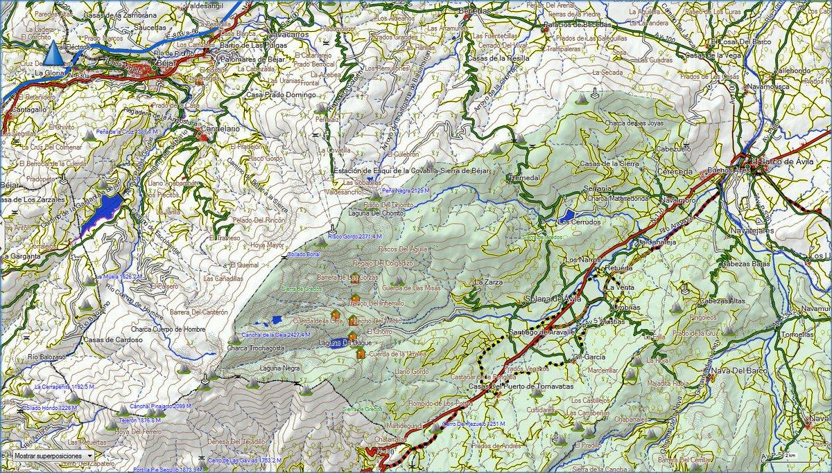Sierra De Gredos Mapa.Cartografia Digital Sur Twitter Mapa Topografico
