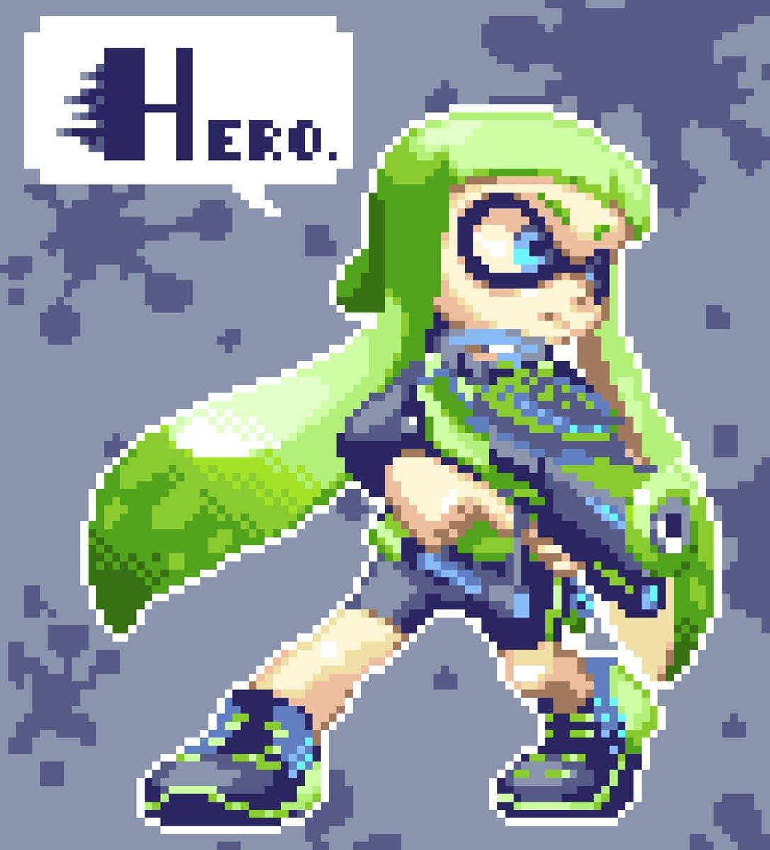 Zozoz On Twitter Agent 3 Hero Girl Dotpict Pixelart