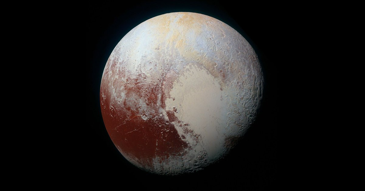 Pluto has a heart-shaped sea that's filled with poisonous ice.