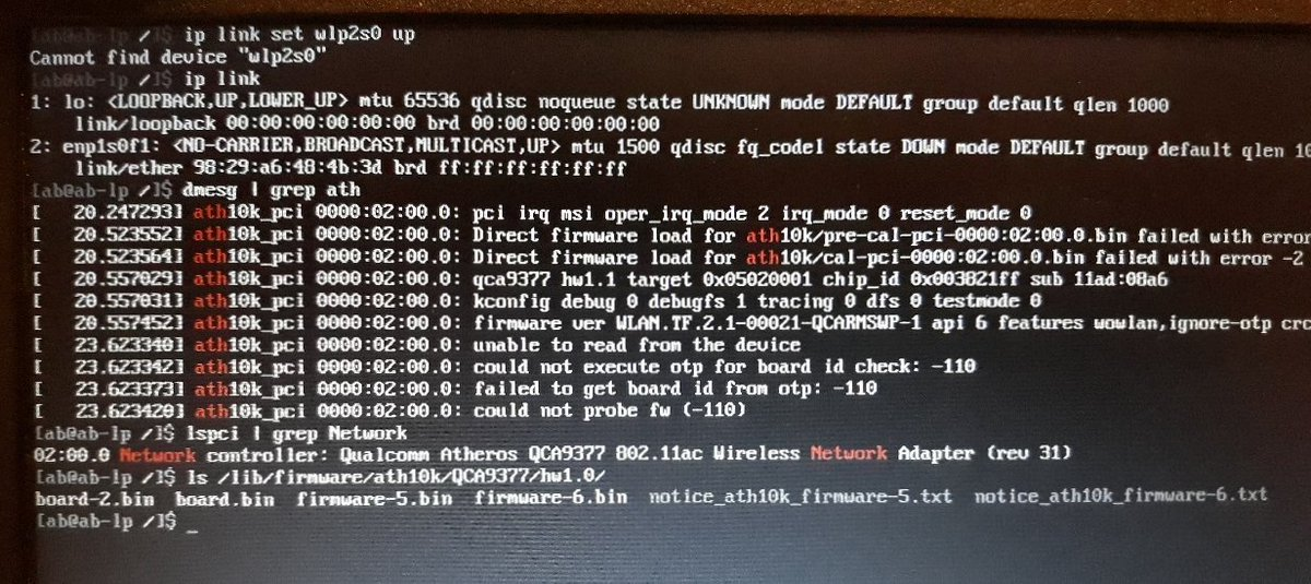Arch Linux Ath10k Firmware