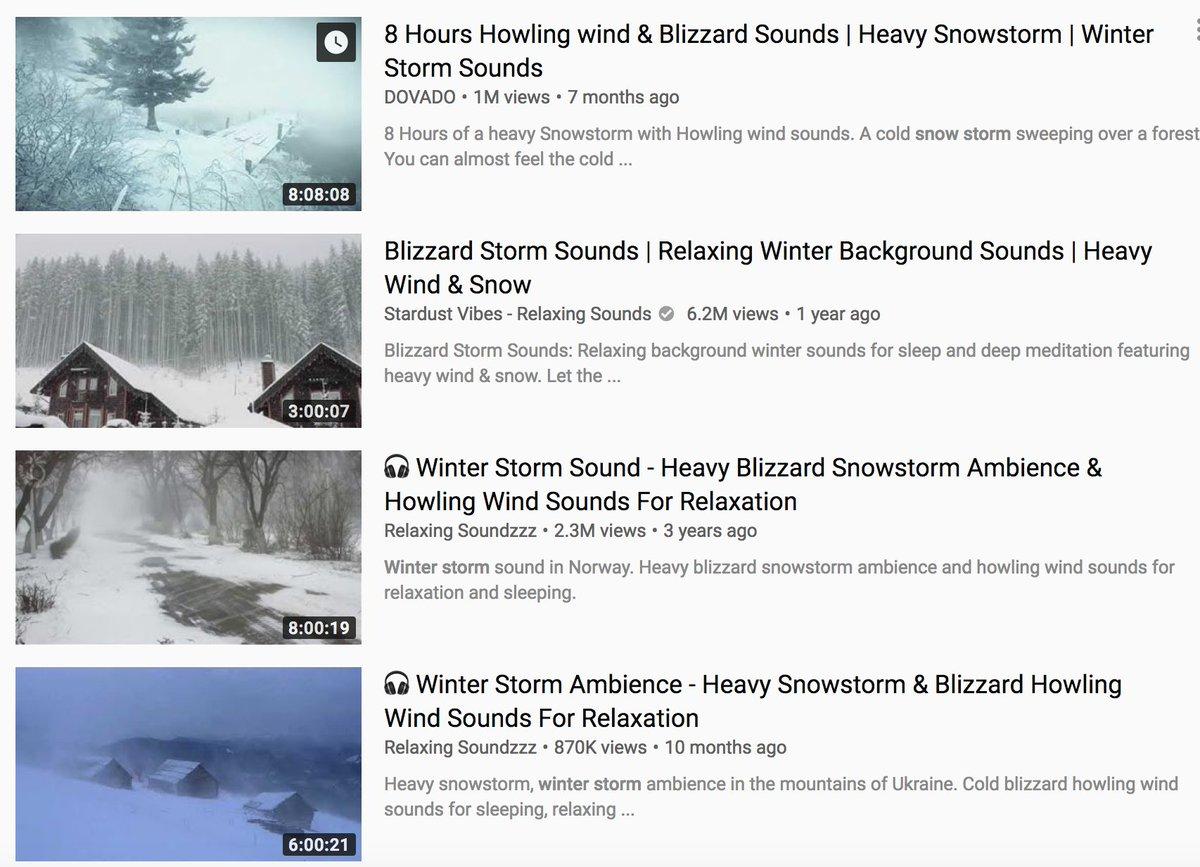 Snow storm wind sounds