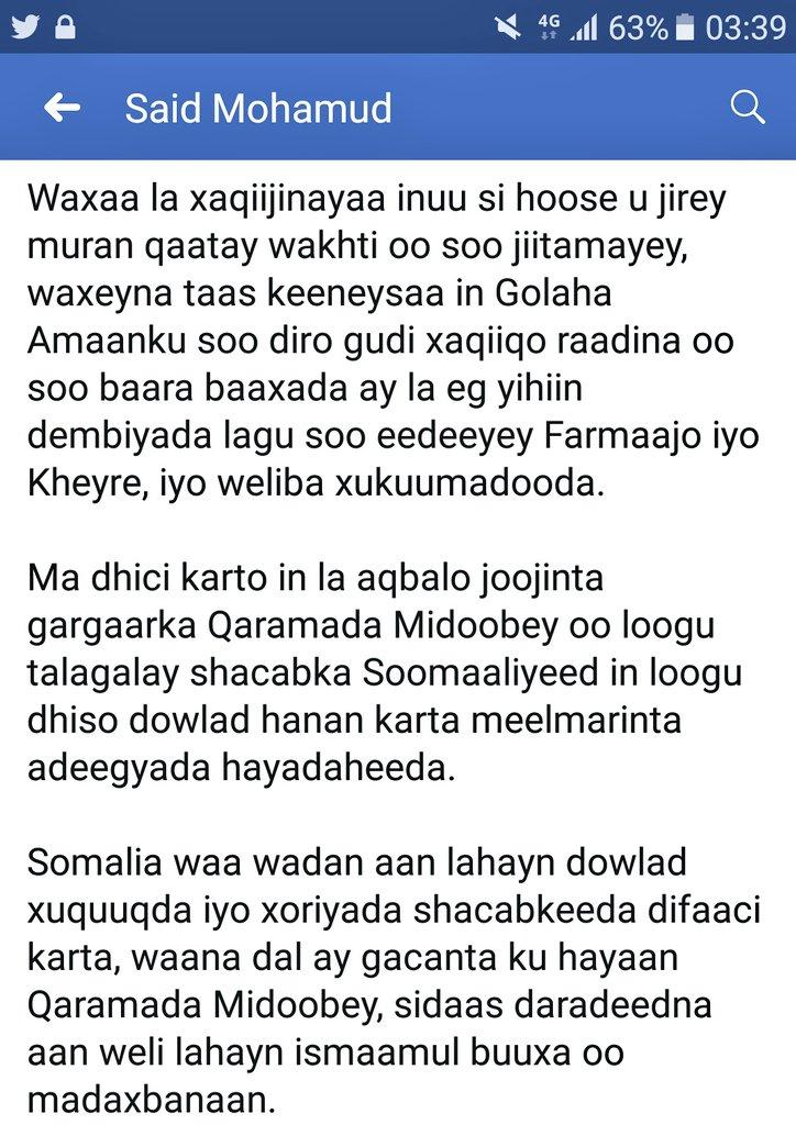 Abdi Egal Gashanabdi Twitter