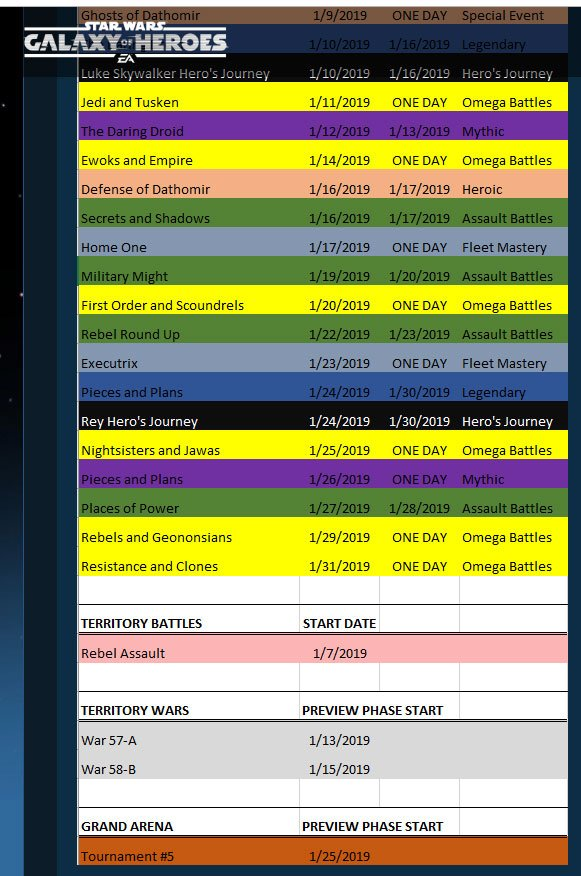 Swgoh Events Calendar.Swgoh Events On Twitter Cg S Calendar Is Out Originally Contained