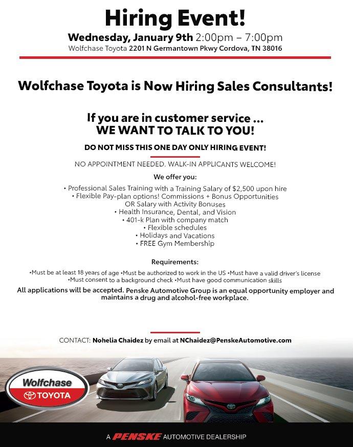Wolfchase Toyota Wolfchasetoyota Twitter