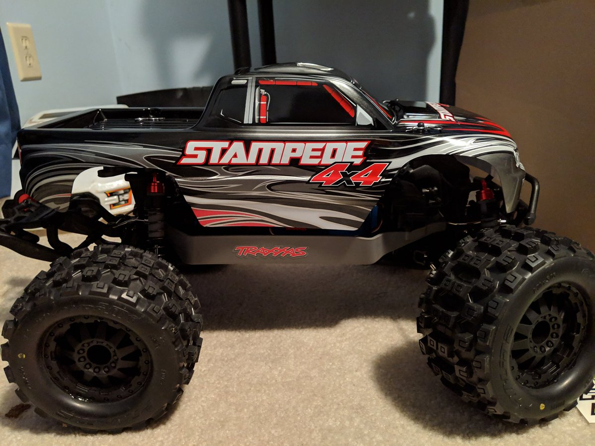 Finally got done upgrading my new @Traxxas stampede 4x4 and