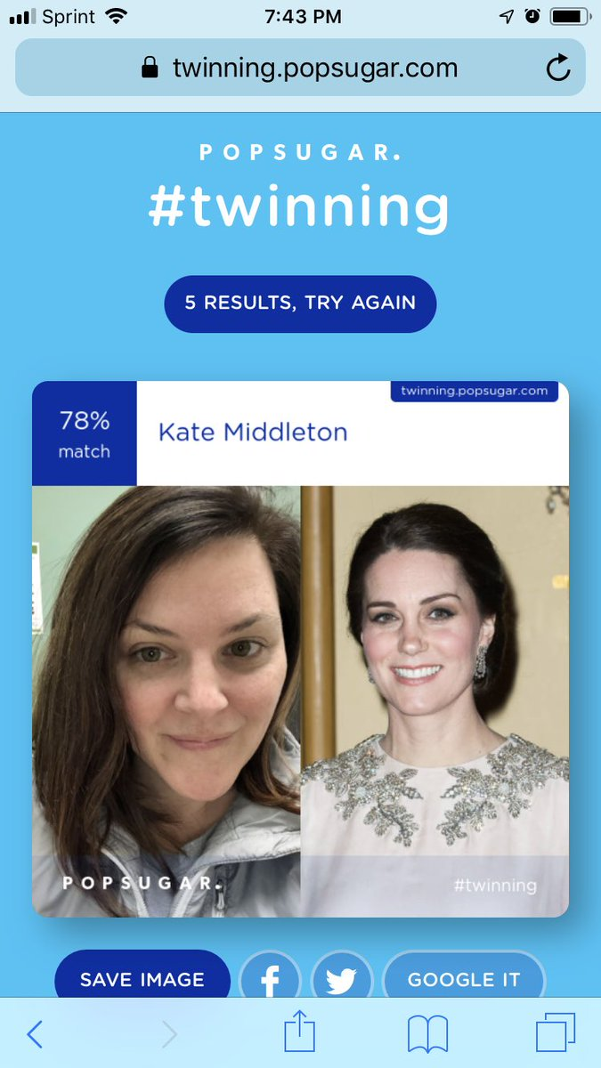 I snort laughed at this. Because Clearly Kate and I are separated at birth...