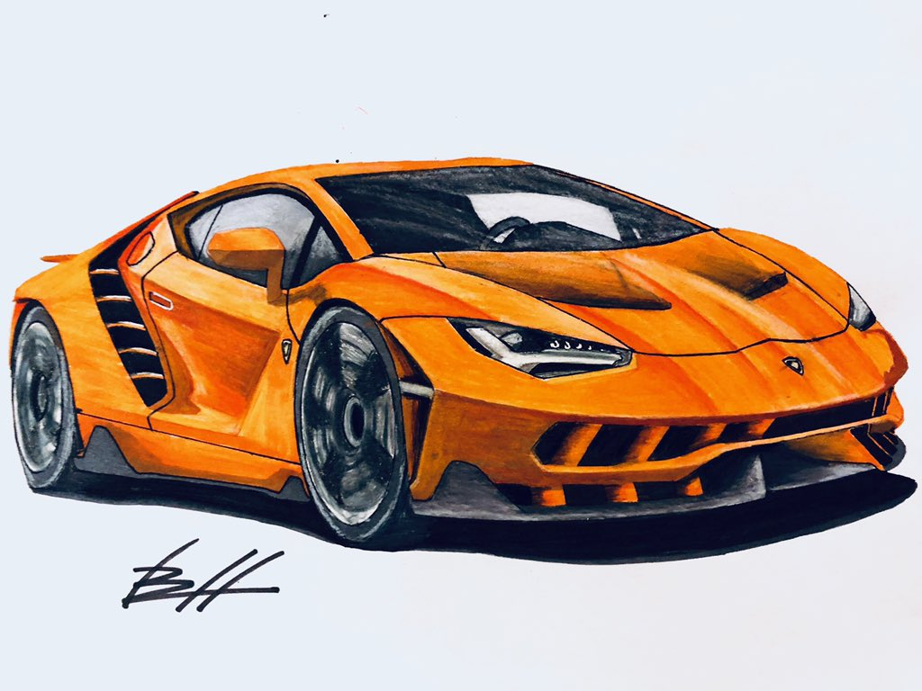 Brayden Huff On Twitter Just Finished Drawing A Lamborghini