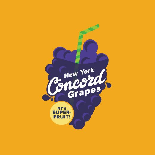 Spiral Design Studio On Twitter Anybody Want A Grape We Were Delighted To Design This Logo Promoting The Concord Grape For Nyagandmarkets Buylocal Ny Https T Co 5z5wdqjjhd