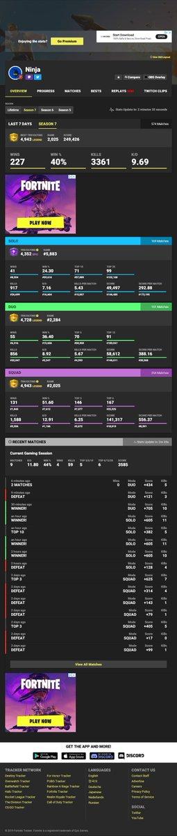 Ninja On Fortnite Tracker | Fortnite Hack V Bucks Season 6