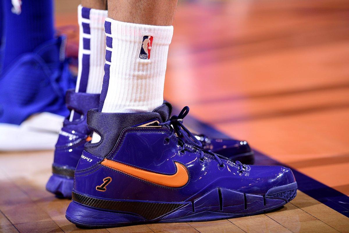 .@KELLYOUBREJR wearing the @DevinBook x Nike Kobe 1 Protro