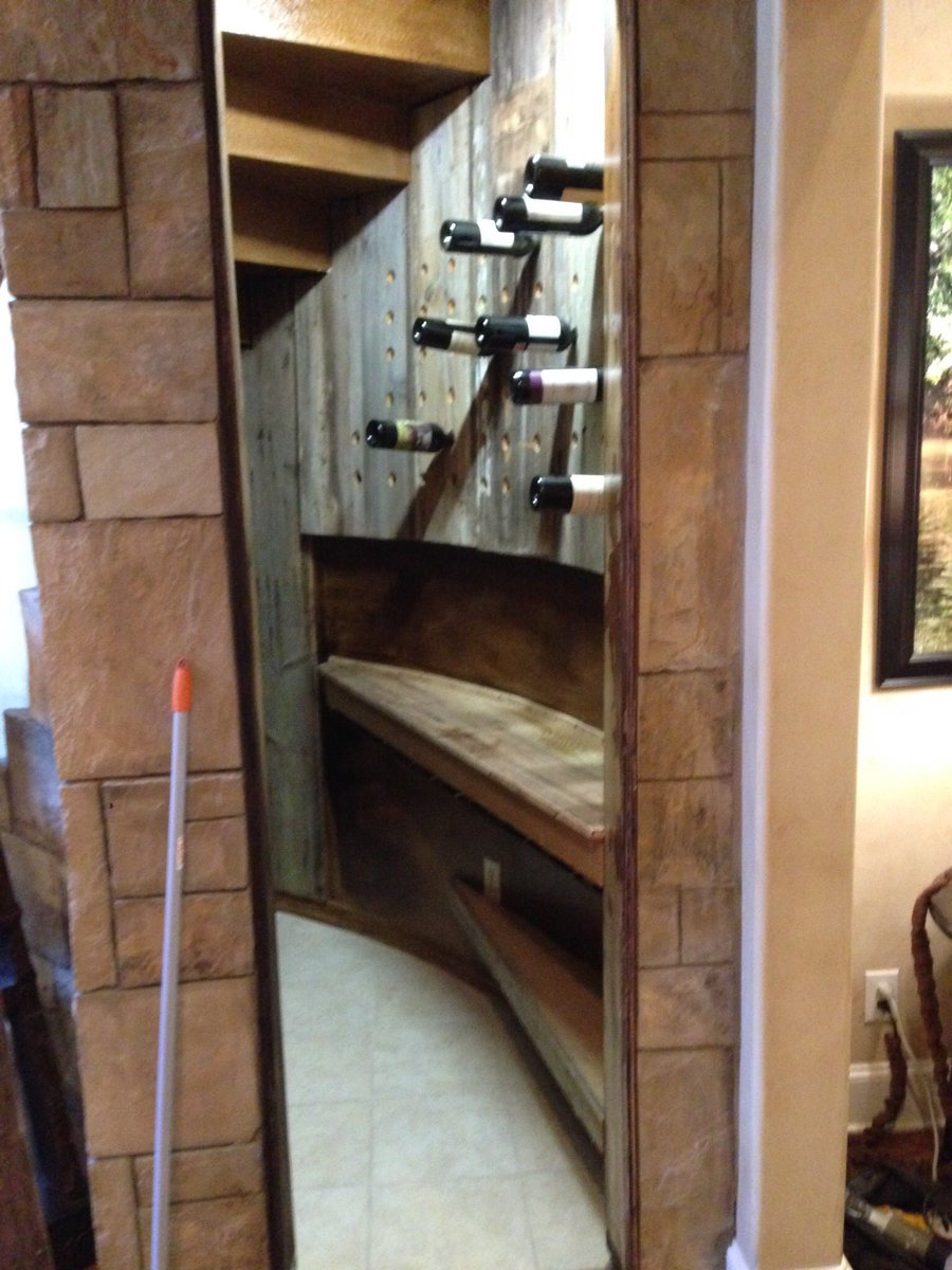 Converted Under Stairs Closet