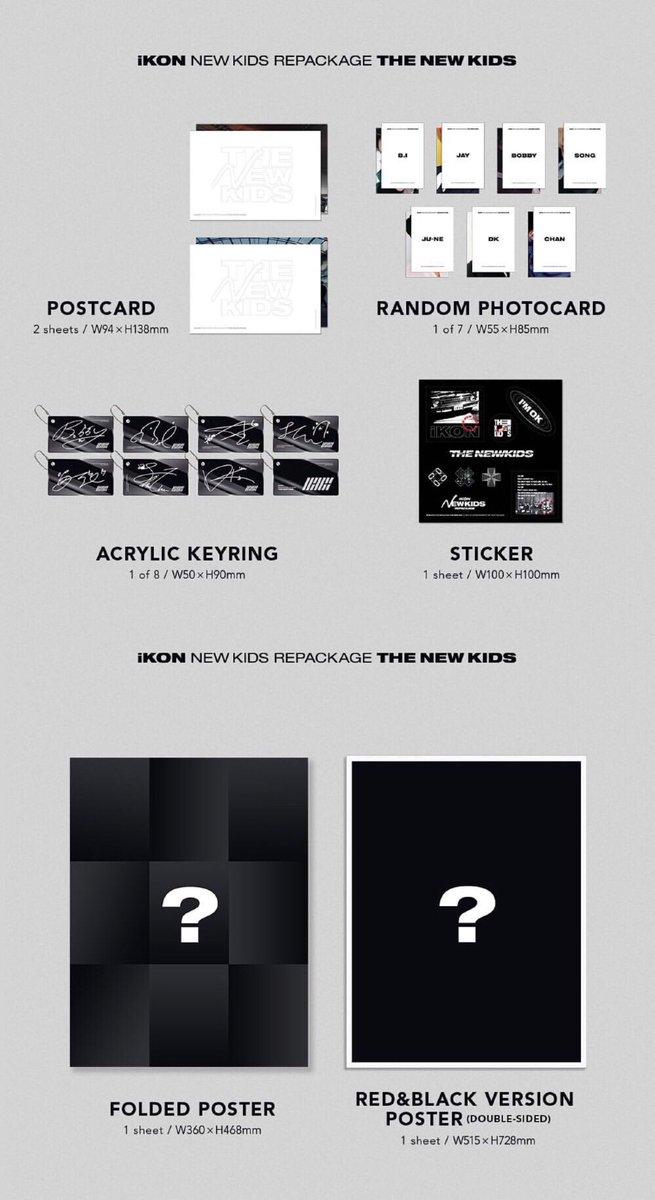 IKON REPACKAGE Album CD+PhotoCard+PhotoBook+PostCard+Poster