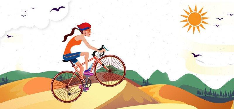 Картинки с велосипедистами нарисованные, как