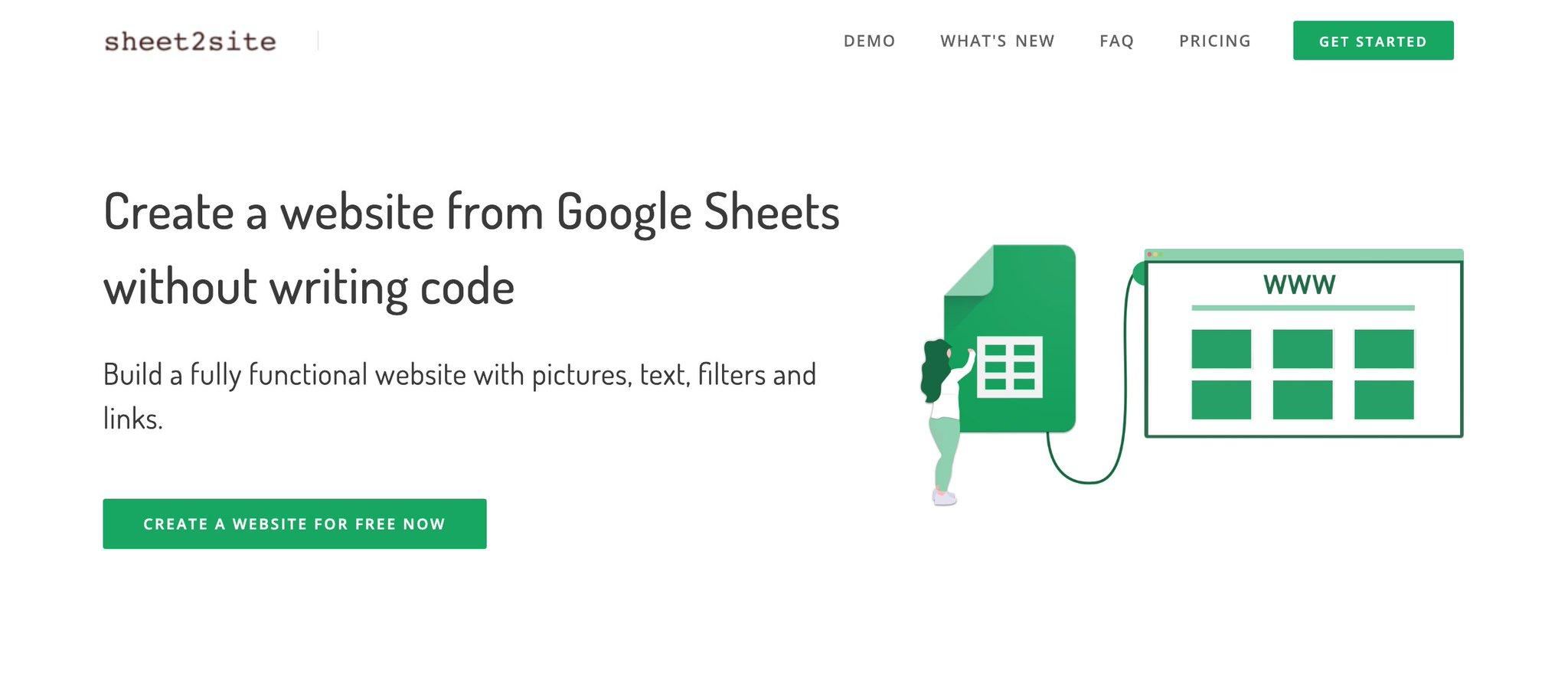 Sheet2Site Updates
