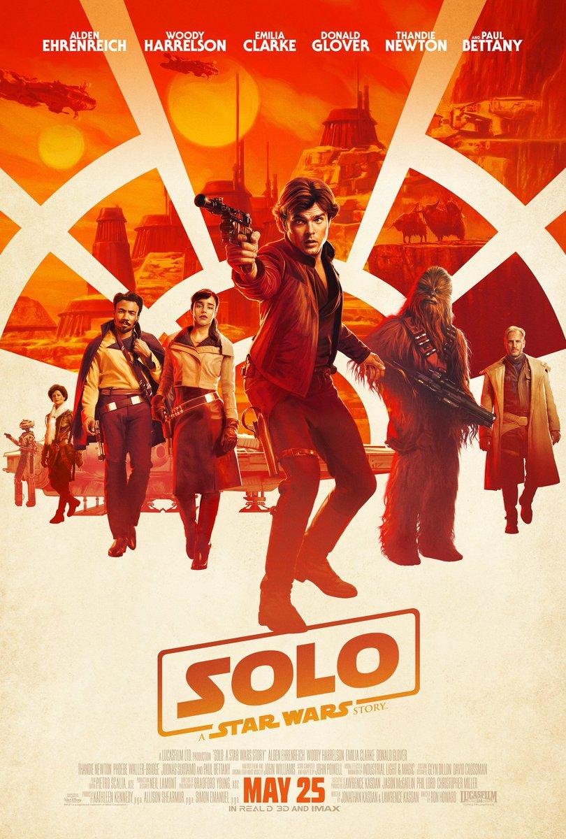 【ハン・ソロ/スター・ウォーズ・ストーリー】  公開 2018年6月29日 原題 Solo: A Star Wars Story 略称 SOLO  スピンオフ映画の二作目 SW映画で最も人気なキャラクターの一人であるハン・ソロの青年時代を描く 悪条件も重なり、SW映画初の赤字作品となったらしい