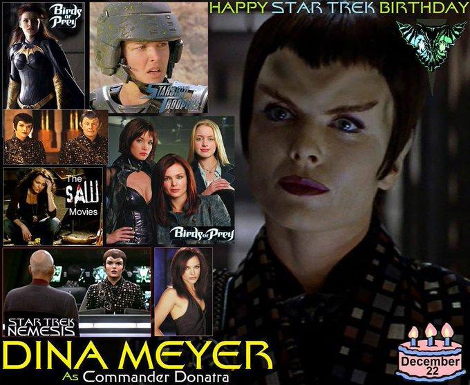 Happy birthday to Dina Meyer, born December 22,1968.