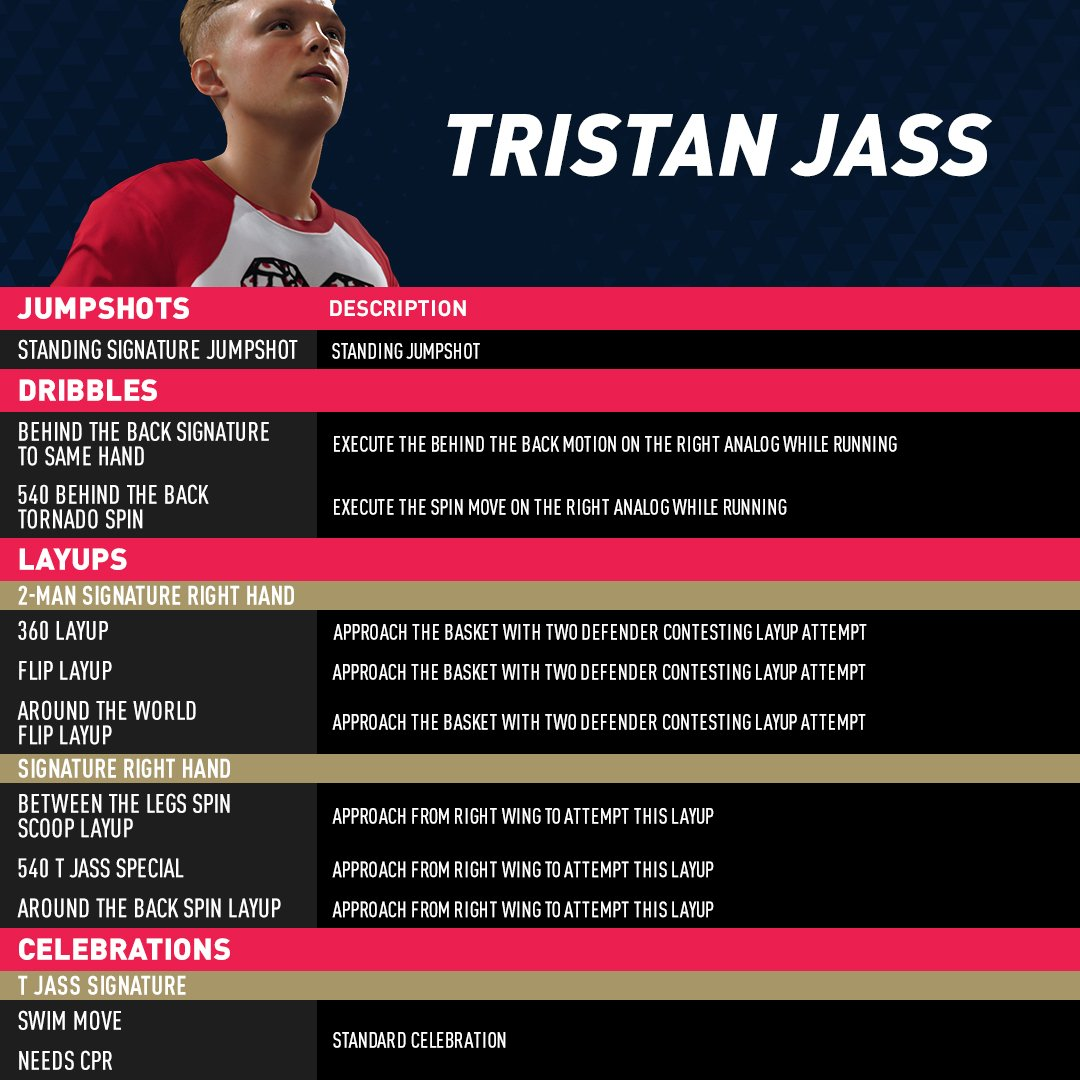 Curious how to play like @Tristan_Jass22 in #NBALIVE19?  We got you 👊!