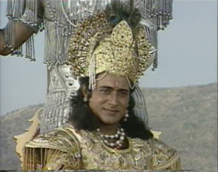 Krishna On Twitter Srk Confirms That Aamir Khan Will Play Krishna In Mahabharata Movie But For 90 S Kids On Screen Krishna Will Always Be Nitish Bharadwaj Bhishma Pitamah Will Be Mukesh Khanna