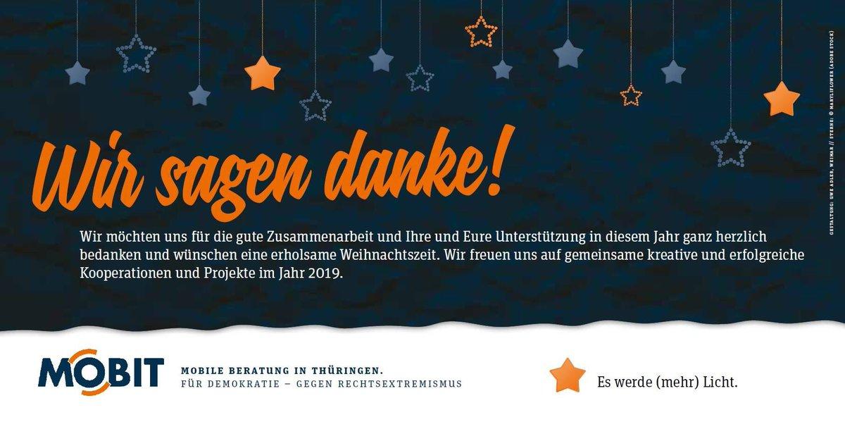 Weihnachten 2019 Thüringen.Mobit On Twitter Danke An Alle Freundinnen Partnerinnen Und Die