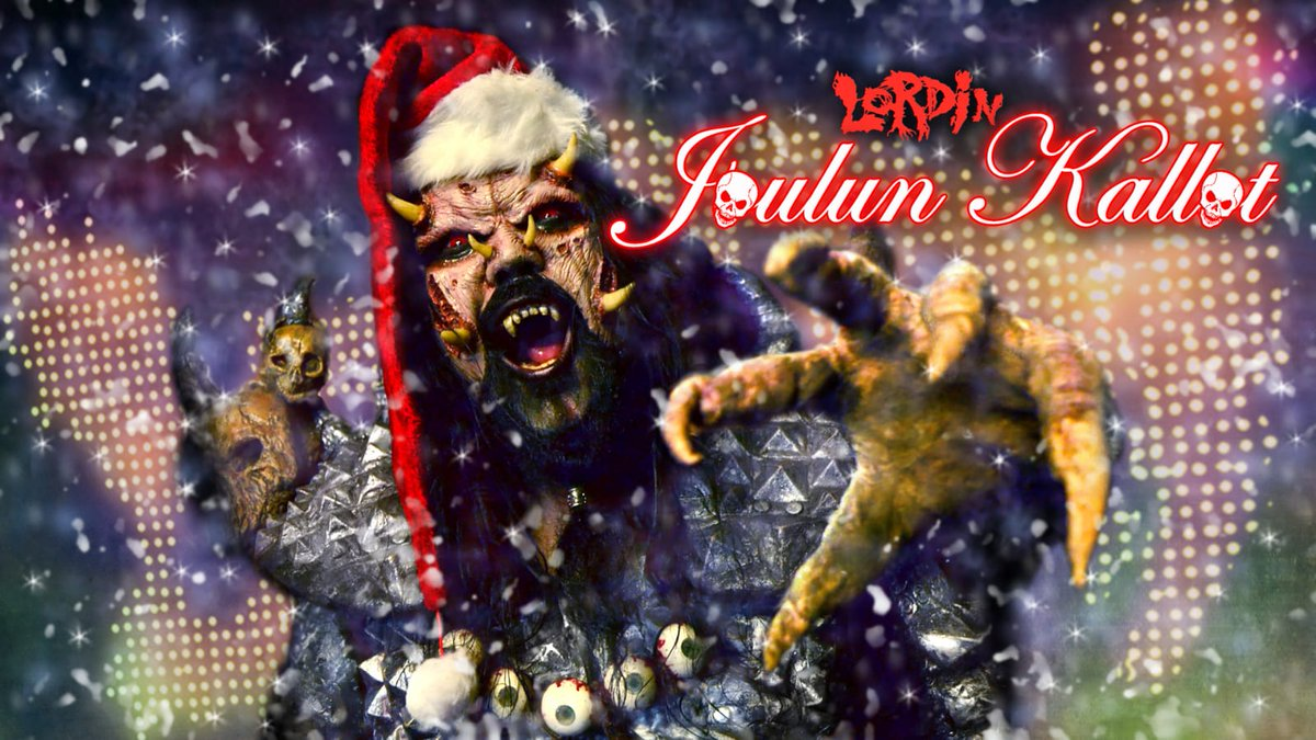 #Lordin #JoulunKallot is a 3,5 hour radio show with Mr Lordi and radio host Juha Mäntykenttä talking about all things xmassy.   On #December 24th at 07.02 on #Yle Puhe, national radio channel in #Finland, and already available on #YleAreena. : https://t.co/8vRv4XPdbX https://t.co/OctJYo4cUp