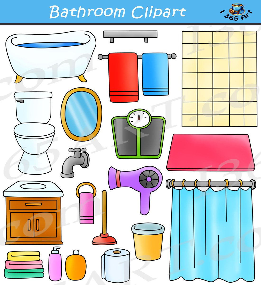 Twitter colorful. Clipart school on bathroom