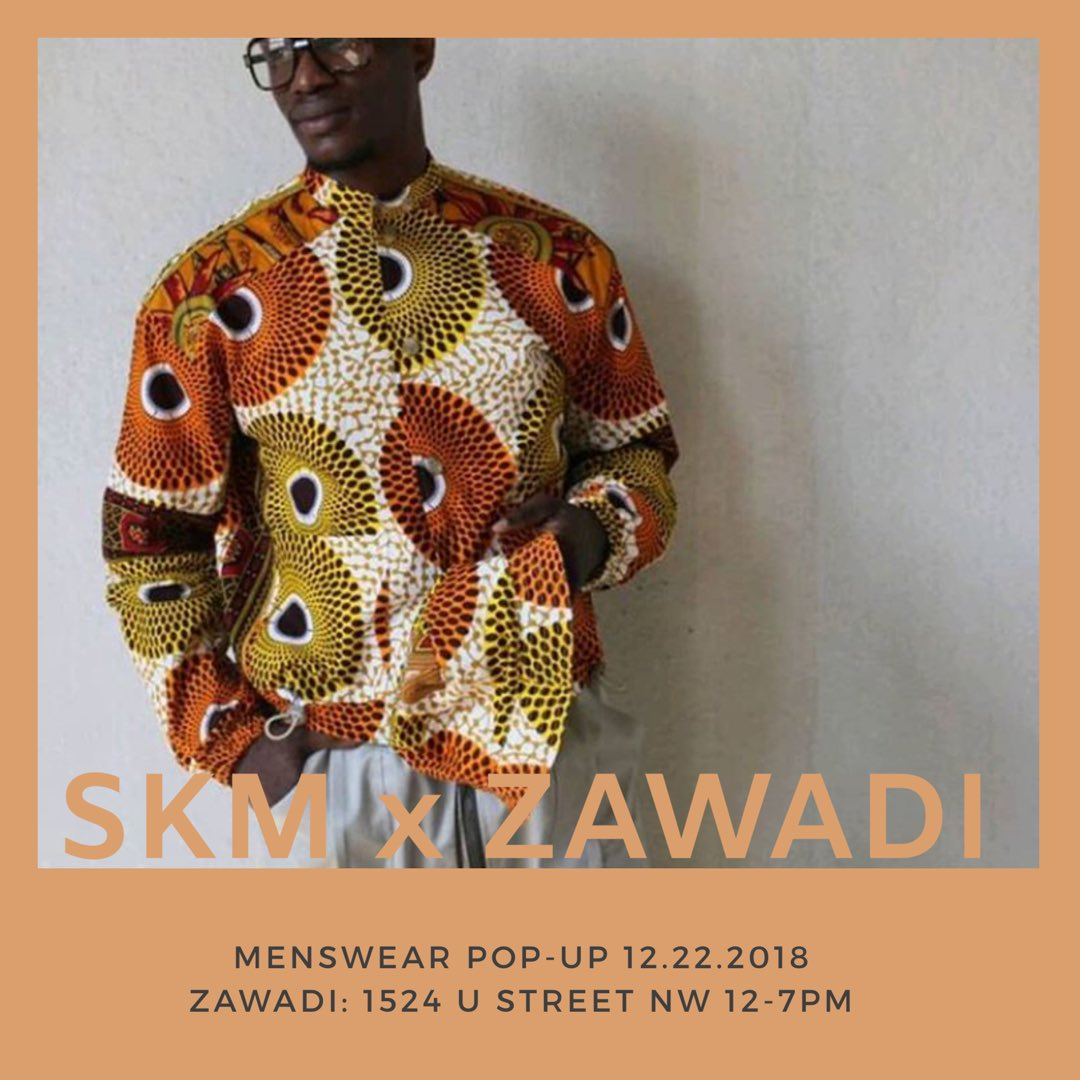 TODAY! One of our favorite menswear designers takes over our space on #UStreet. We're delighted to be a #blackownedbusiness supporting another black owned business. Also, the clothes are amazing. 12-7PM 1524 U St. NW