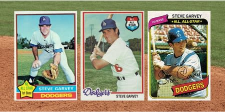 Happy 70th Birthday to Steve Garvey!  Quite possibly the best looking trio of cards ever made!