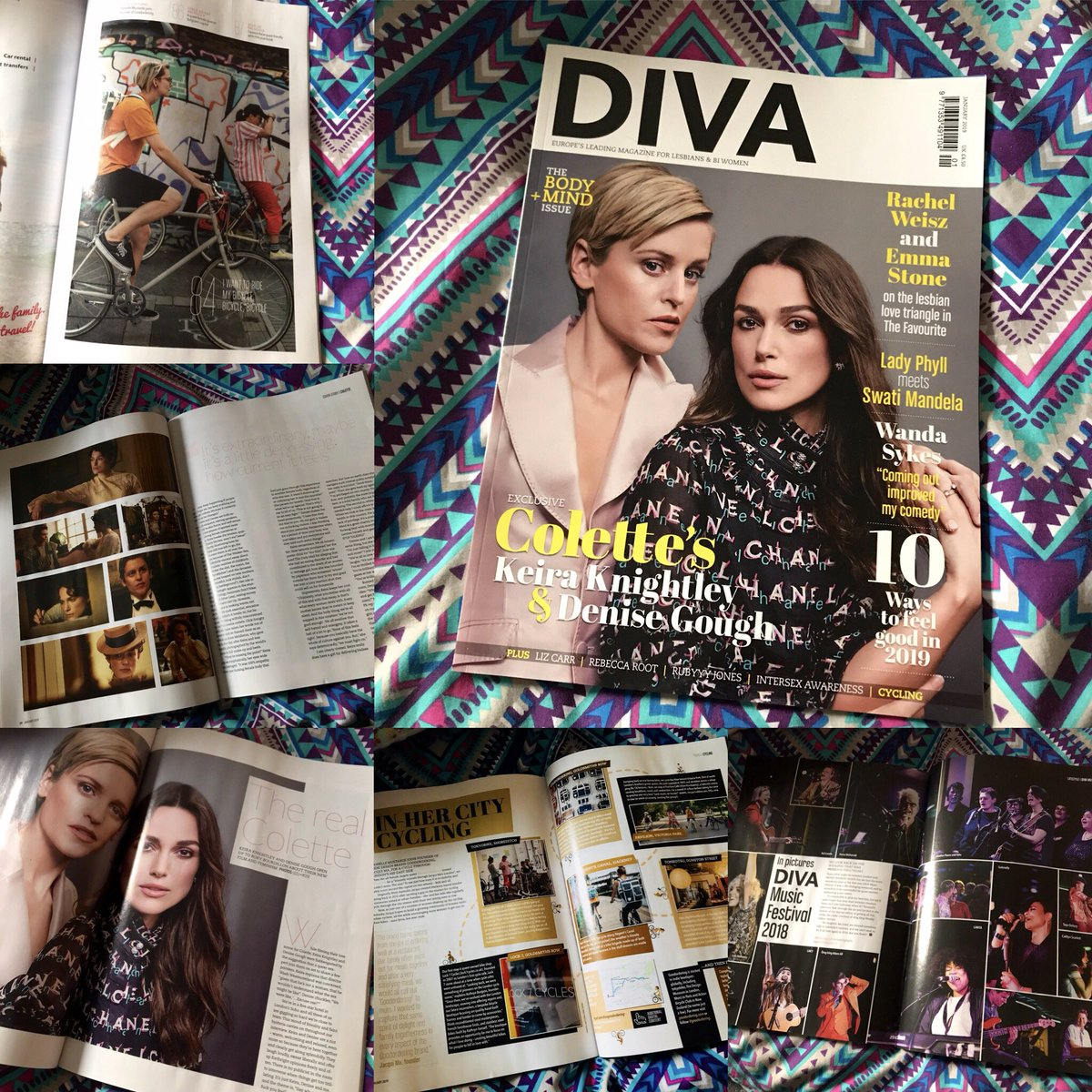 Queermas has come early, as the new incredible issue of @DIVAmagazine has arrived! Such beautiful writing from @Roxy_Vintage , @daniellejournal & #TeamDiva! I can't wait to see @ColetteMovie & reading the interview with #KeiraKnightley & #DeniseGough makes me even more excited!🌈