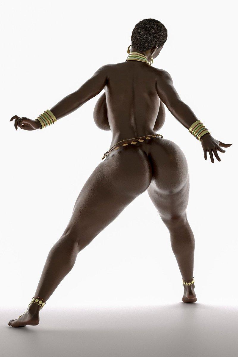 Ebony girl dancing naked