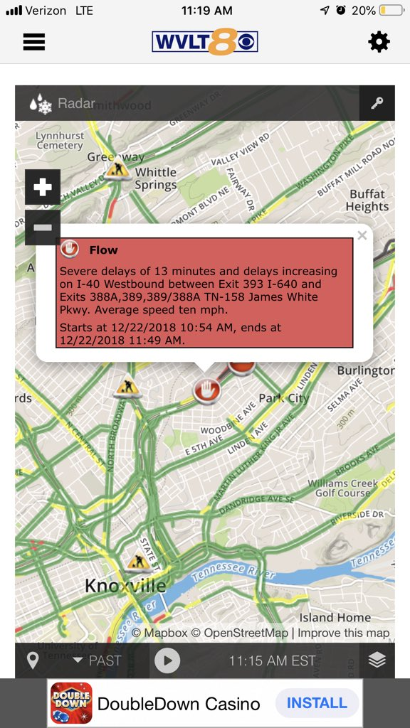 Knoxville Traffic Map.Casey Wheeless On Twitter Traffic Alert Stopped Traffic On I 40w