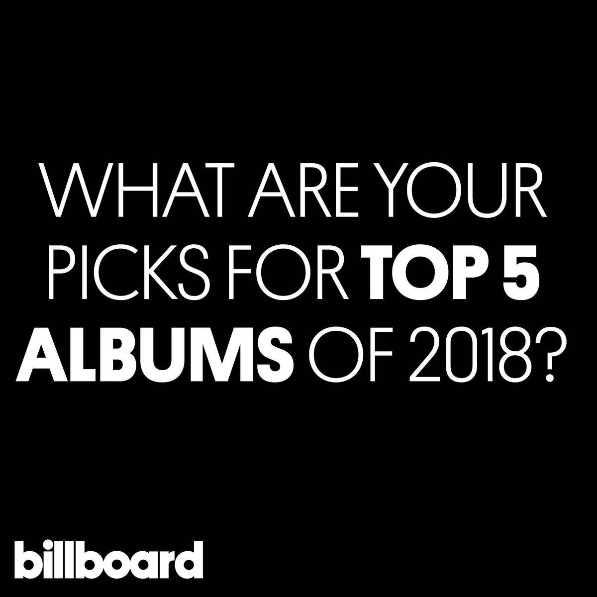 Top 5 albums of 2018? 🤔   #yearinmusic https://t.co/K2MzMdpwf5