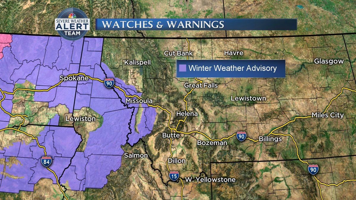 Sapphire Mountains Montana Map.Nbc Montana On Twitter Winter Weather Advisory For The Lower Clark