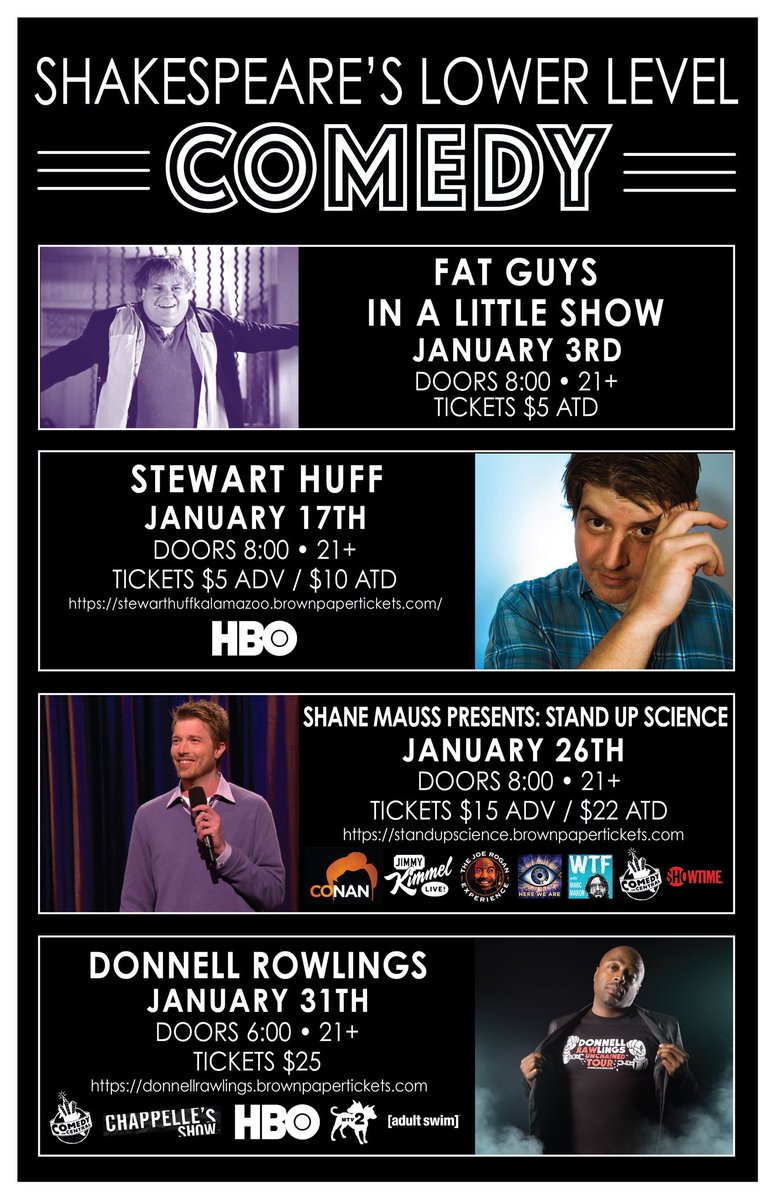 January 2019 @StewHuff @shanecomedy @donnellrawlings