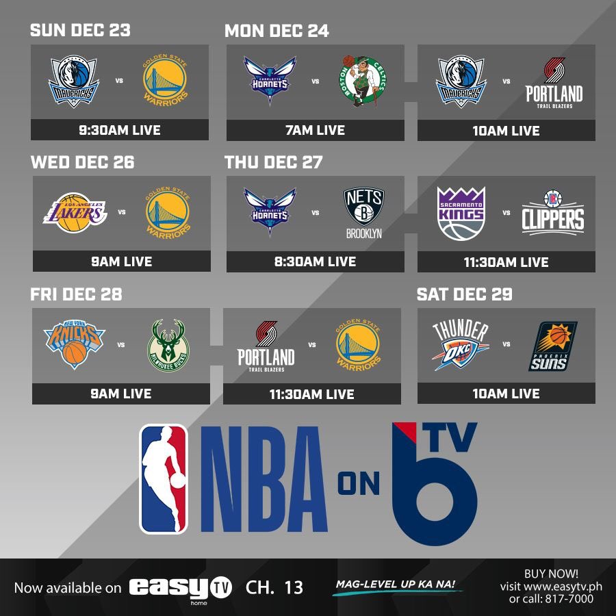 Spend your holidays by watching LIVE NBA games every morning on BTV