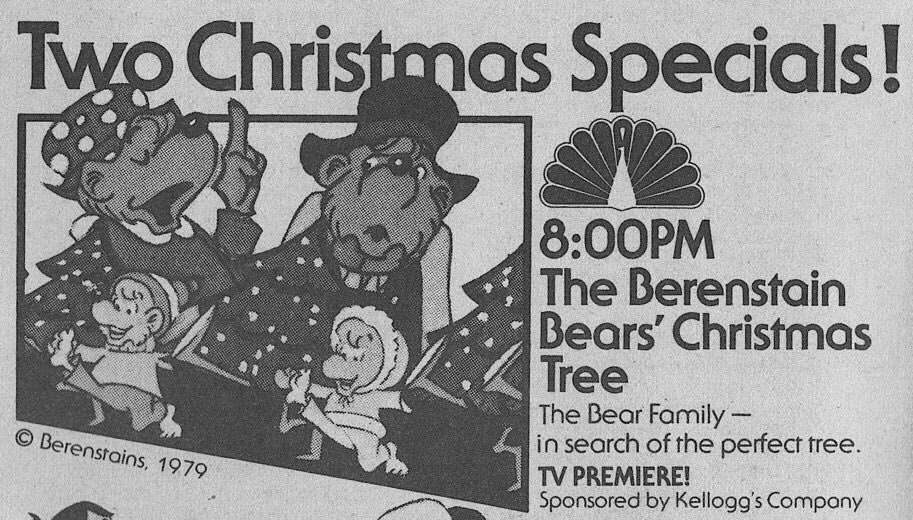 Berenstain Bears Christmas Tree.Retronewsnow On Twitter Nbc Primetime December 1979